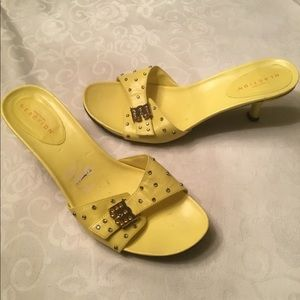 Reaction by Kenneth Cole yellow mules 9-9.5